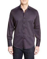 Robert Graham Purple 'guthrie' Classic Fit Sport Shirt for men