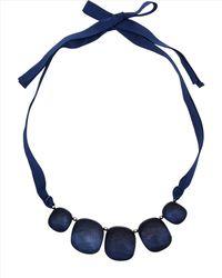 Jaeger - Blue Pebble Ribbon Necklace - Lyst