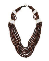 Viktoria Hayman | Black Tiger Wood Multi-strand Statement Necklace for Men | Lyst