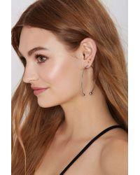 Nasty Gal | Metallic No Hype Threaded Hoop Earrings | Lyst