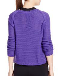 Ralph Lauren - Purple Lauren Active Combed-cotton Sweater - Lyst
