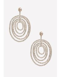Bebe | Metallic Pave Multi-circle Earrings | Lyst