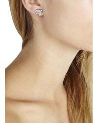 Marc By Marc Jacobs - Metallic Silver Tone Heart Stud Earrings - Lyst