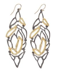 Alexis Bittar | Metallic Elements Lacy Leaf Earrings | Lyst
