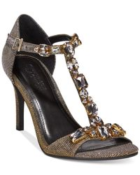 Kenneth Cole Reaction | Metallic Pin Pixie Evening Sandals | Lyst