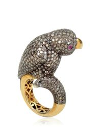 Bibi Van Der Velden - Metallic Parrot Ring - Lyst