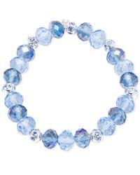Nine West | Blue Bead Stretch Bracelet | Lyst