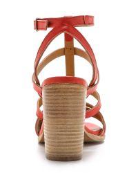 Coclico | Red Cat Block Heel Sandals - Marsala | Lyst