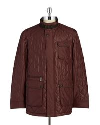 Bugatti | Red Quilted Coat for Men | Lyst