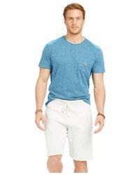 Polo Ralph Lauren | Blue Jersey Pocket Crewneck for Men | Lyst