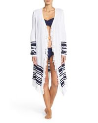 Tommy Bahama | Blue Tassel Cover-up Cardigan | Lyst