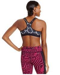 Nike - Gray Pro Dri-fit Padded Racerback Mid-impact Sports Bra - Lyst