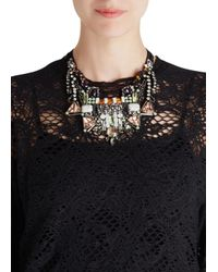 Nocturne | Black Pora Crystal Embellished Necklace | Lyst