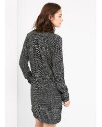 Mango - Black Printed Dress - Lyst