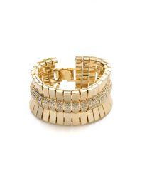 Lee Angel - Metallic Crystal Pave Bar Bracelet - Lyst