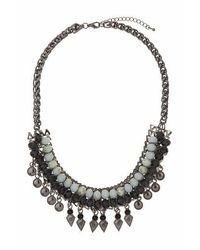TOPSHOP | Blue Facet Bead Statement Collar | Lyst