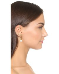 Oscar de la Renta | Metallic Gold-plated, Faux Pearl And Crystal Ear Cuff And Stud Earring | Lyst