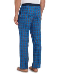 Tommy Hilfiger - Blue Woven Check Sleep Bottoms for Men - Lyst