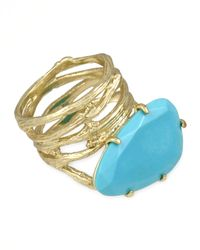 Kendra Scott - Blue Cora Coil Ring Turquoise - Lyst