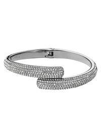 Michael Kors - Metallic Pave Bypass Bracelet - Lyst