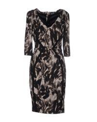 Elisabetta Franchi | Black Short Dress | Lyst