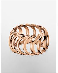 Calvin Klein | Pink Platinum Body Pvd Rose Gold Ring | Lyst