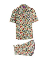 Liberty | Multicolor Multicolour Poppy And Honesty Short Cotton Pyjama Set | Lyst