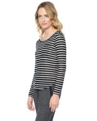 Splendid | Black Valletta Stripe Top | Lyst