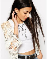 ASOS | Blue Burning Feather Festival Necklace | Lyst