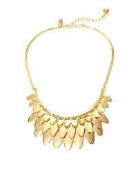 kate spade new york | Metallic Fancy Flock Collar Necklace | Lyst