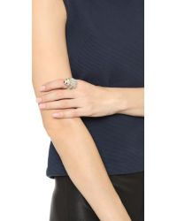 kate spade new york - Metallic Cold Comforts Ring - Clear/gold - Lyst