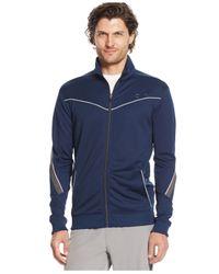 Calvin Klein | Blue Performance Mock-neck Full-zip Jacket for Men | Lyst