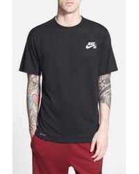 Nike - Black 'skyline' Short Sleeve Crewneck T-shirt for Men - Lyst