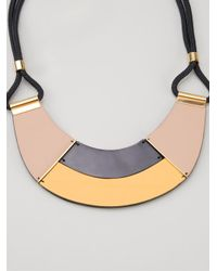 Marni - Yellow Contrasting Panel Necklace - Lyst
