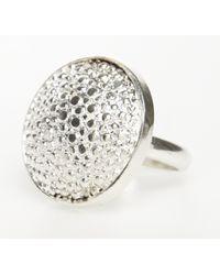 Rachael Ruddick | Metallic Stingray Button Ring (L) | Lyst