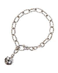 John Hardy - Metallic Kali Silver-Link Ball-Charm Bracelet - Lyst