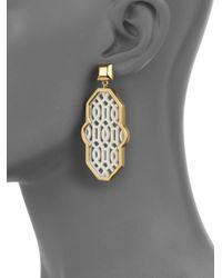 Tory Burch | Metallic Chantal Perforated Drop Earrings | Lyst