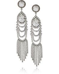 DANNIJO | Metallic Oxidized Silverplated Swarovski Crystal Drop Earrings | Lyst