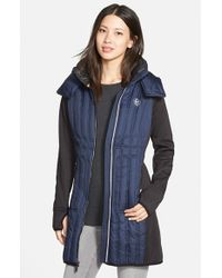 MICHAEL Michael Kors | Blue Detachable-Hood Quilted Jacket | Lyst