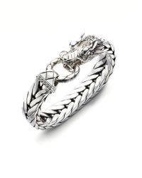 John Hardy | Metallic Dragon Chain Silver Bracelet for Men | Lyst