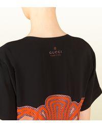Gucci - Multicolor Multilines Nouveau Print Drop Neck Top - Lyst