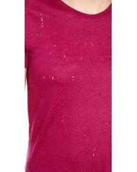 IRO - Purple Clay T-Shirt - Lyst