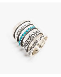Pamela Love | Blue Single Turquoise Cage Ring | Lyst