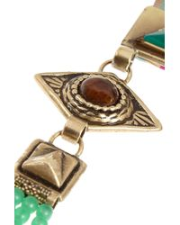 Etro - Pink Gold-Plated Multi-Stone Necklace - Lyst