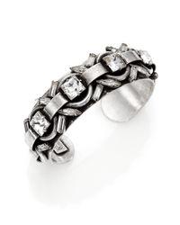 DANNIJO | Metallic Archer Crystal Cuff Bracelet | Lyst