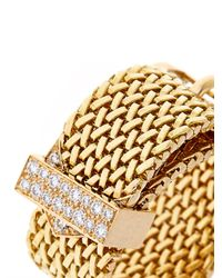 Aurelie Bidermann | Metallic Diamond & Yellow-Gold Belt Ring | Lyst