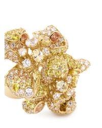 Anabela Chan   Metallic 'Bloomingdale' Diamond Pavé 18K Yellow Gold Flower Ring   Lyst
