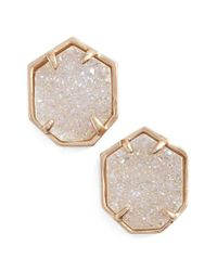 Kendra Scott | Pink 'taylor' Stud Earrings | Lyst