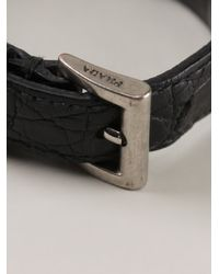 Prada | Black Charm Bracelet | Lyst