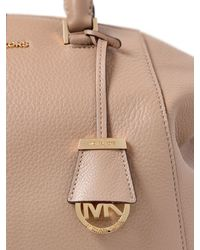 MICHAEL Michael Kors - Natural Riley Textured Leather Top Handle Bag - Lyst